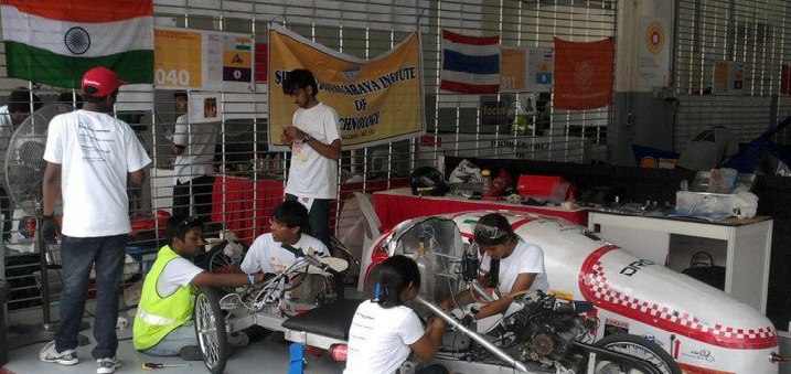 Team Inferno from Sir MVIT gets ready with Project Vidur for Shell Eco Marathon 2014
