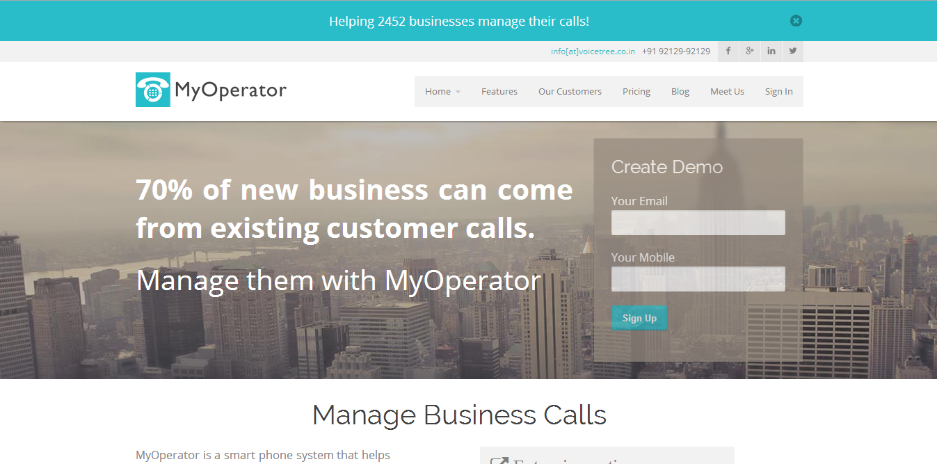 200+ Paying Customers for SME Call Management Solution in 7 Months : The Story of MyOperator & Ankit Jain