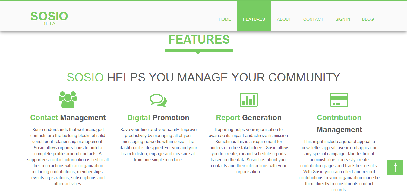 sosio homepage Sosio   One stop Solution to help manage your Community