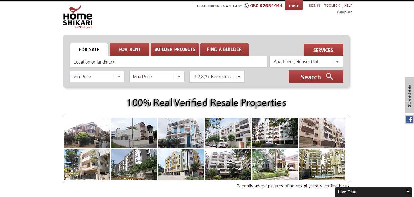 website ss hs No brokerage, No Spam   Just Real Estate | HomeShikari.com