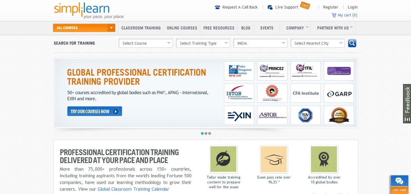 Simplilearn helps working professionals get certified and scale up