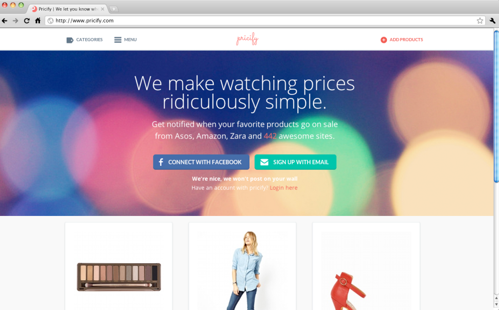 Pricify - Watch prices from your favorite online stores