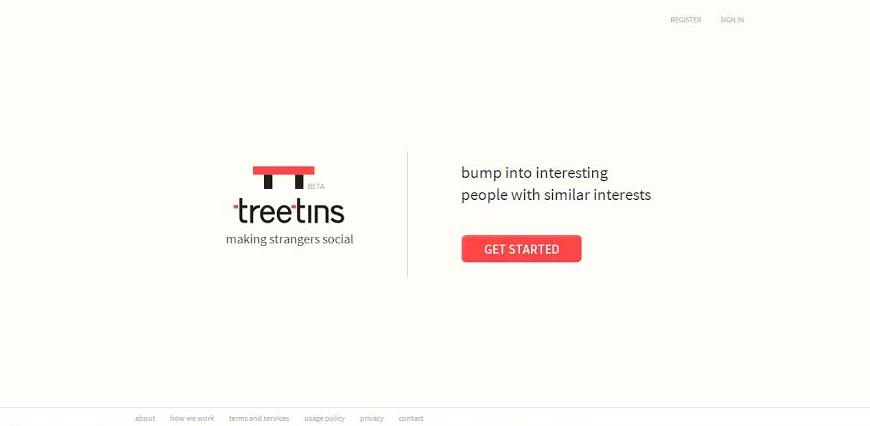 Treetins - Making Strangers with similar interests Social