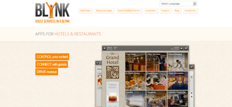 Blynk - Creating Digital Conceirge Apps for Hotels and Restaurants