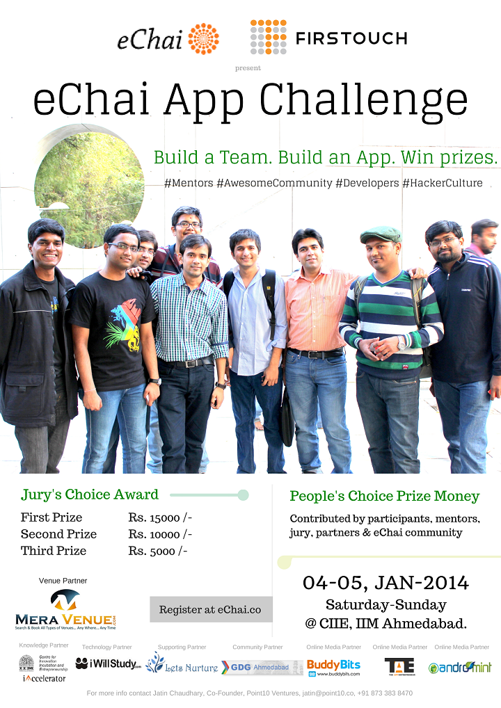 Come, participate in the eChai App Challenge presented by eChai and Firstouch