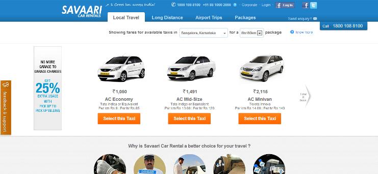 cab services in India