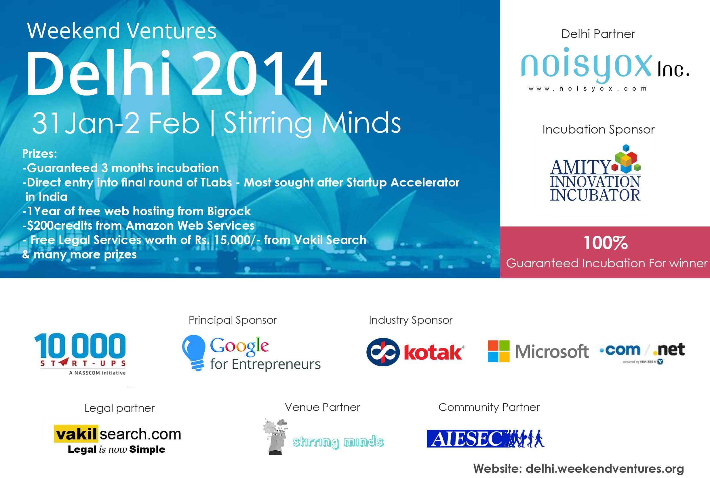 54 Hrs Startup Launch Event Weekend Ventures Organizes Delhi Edition from Jan 31st to Feb 2nd