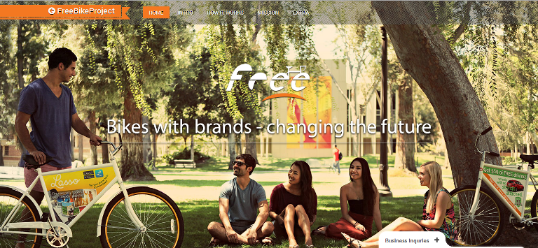 FreeBike Project -  Creating a win-win relationship between Students, Advertisers and Charities through Free Bikes
