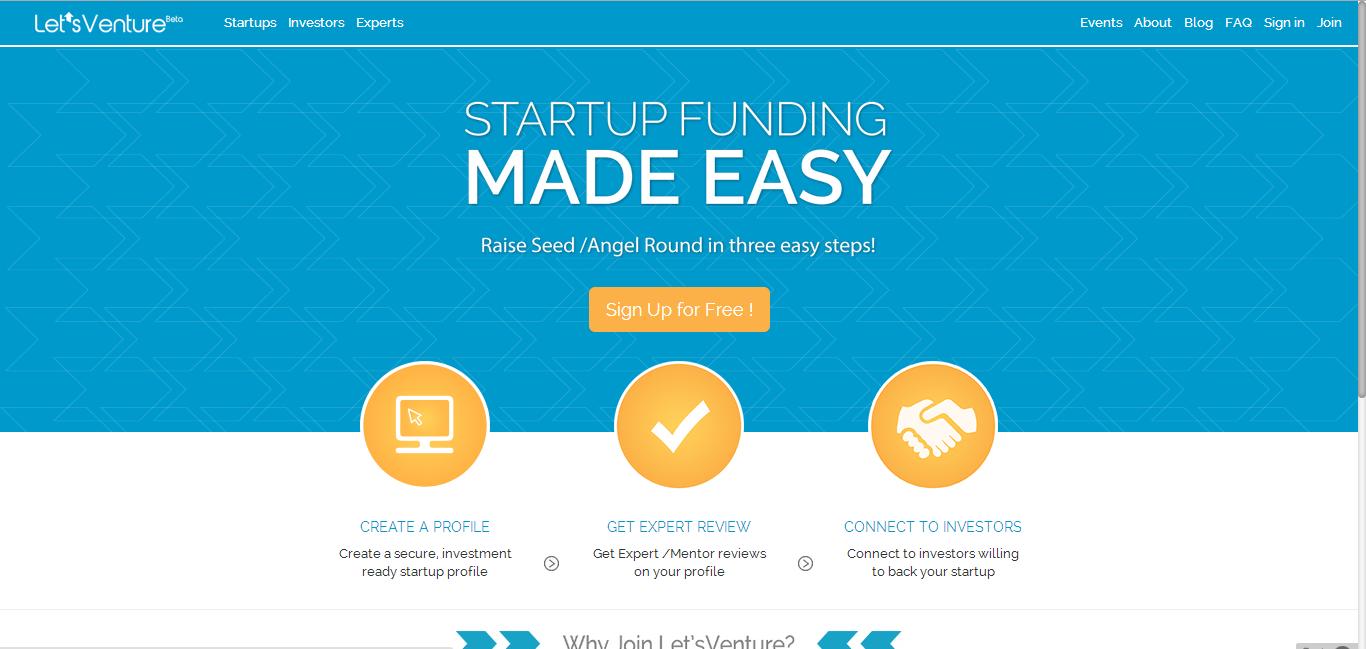 LetsVenture.com - Democratizing Fund Raising for Indian Startups