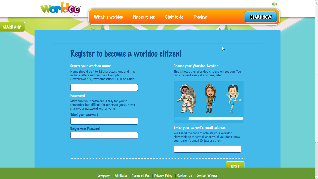Screenshot from 2014 02 08 121158 Worldoo.com   A virtual ecosystem where the child can live, express and play!