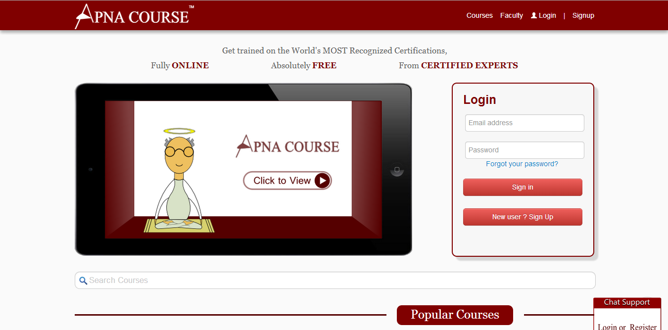 Apnacourse com- Free Online Certification Courses By