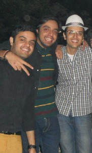 Team Cookfresh : Anshul Narang (Co-Founder), Nimit Kalra (Chef & Partner) and Raghav Kohli (Co-Founder).