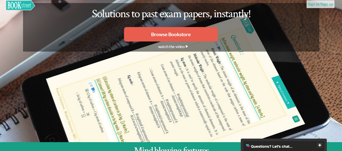 Exam Paper Solutions Marketplace BookStreet incubates with BSE-Ryerson