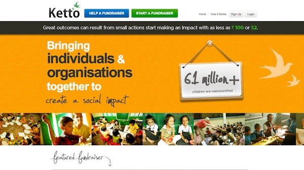 ketto screen Heres what you need to know about Crowdfunding in India