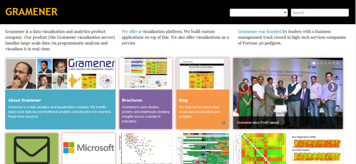 Gramener homepage 720x332 Hyderabad based Gramener provides inclusive BigData Visualizations for Actionable Insights