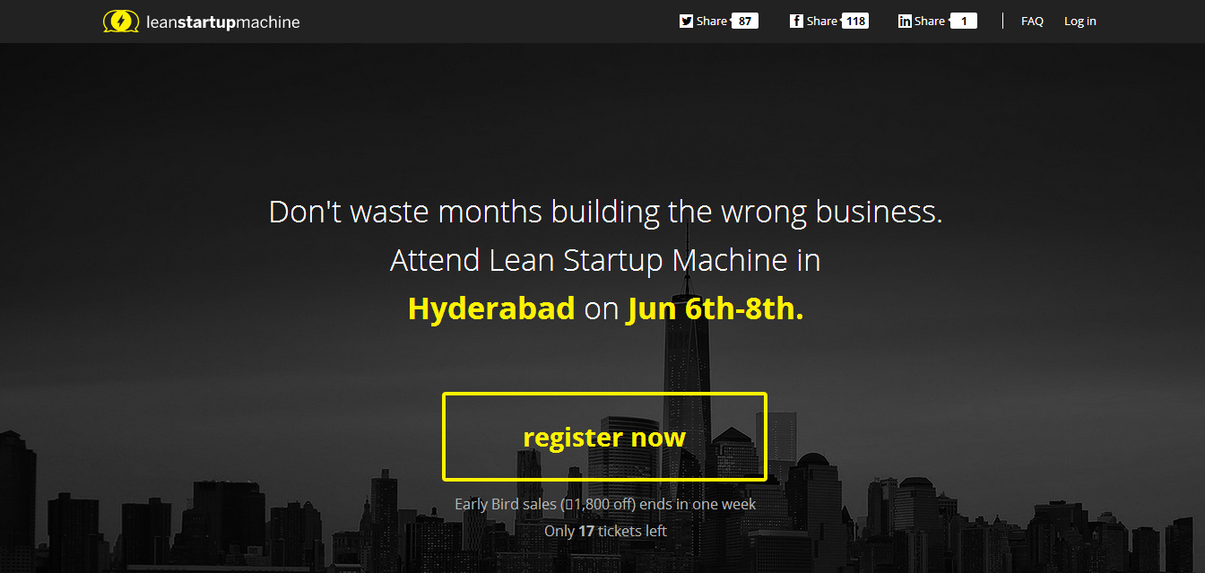 Lean Startup Machine comes to Hyderabad from June 6th to 8th