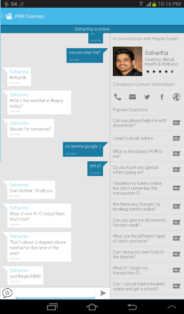 Screenshot 2014 04 02 22 16 48 Haptik | Get Involved In 1800 Free Customer Cares Social Media