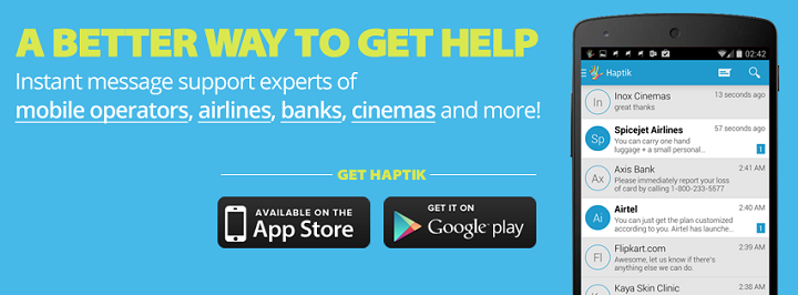 Haptik | Get Involved In 1800 Free Customer Care's Social Media