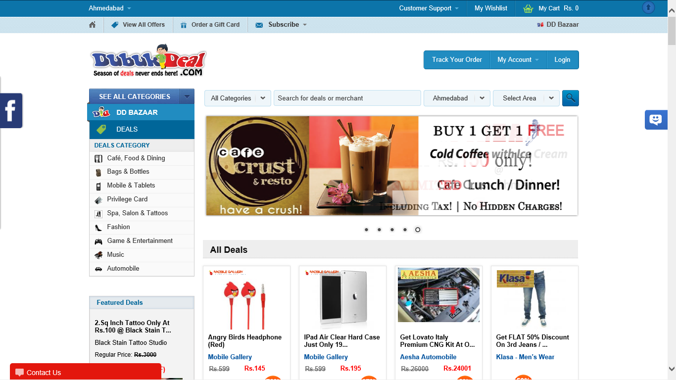 Ahmedabad based Dubukdeal will find you the best Deals in town!