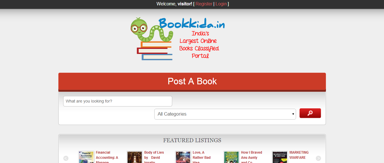 Bookkida: Why Throw Away, When You Can Sell ?