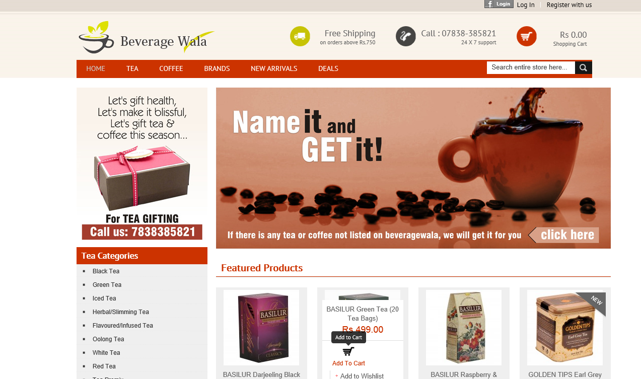 beveragewala Now, buy Premium Tea and Coffee online at Beveragewala, a niche e commerce store