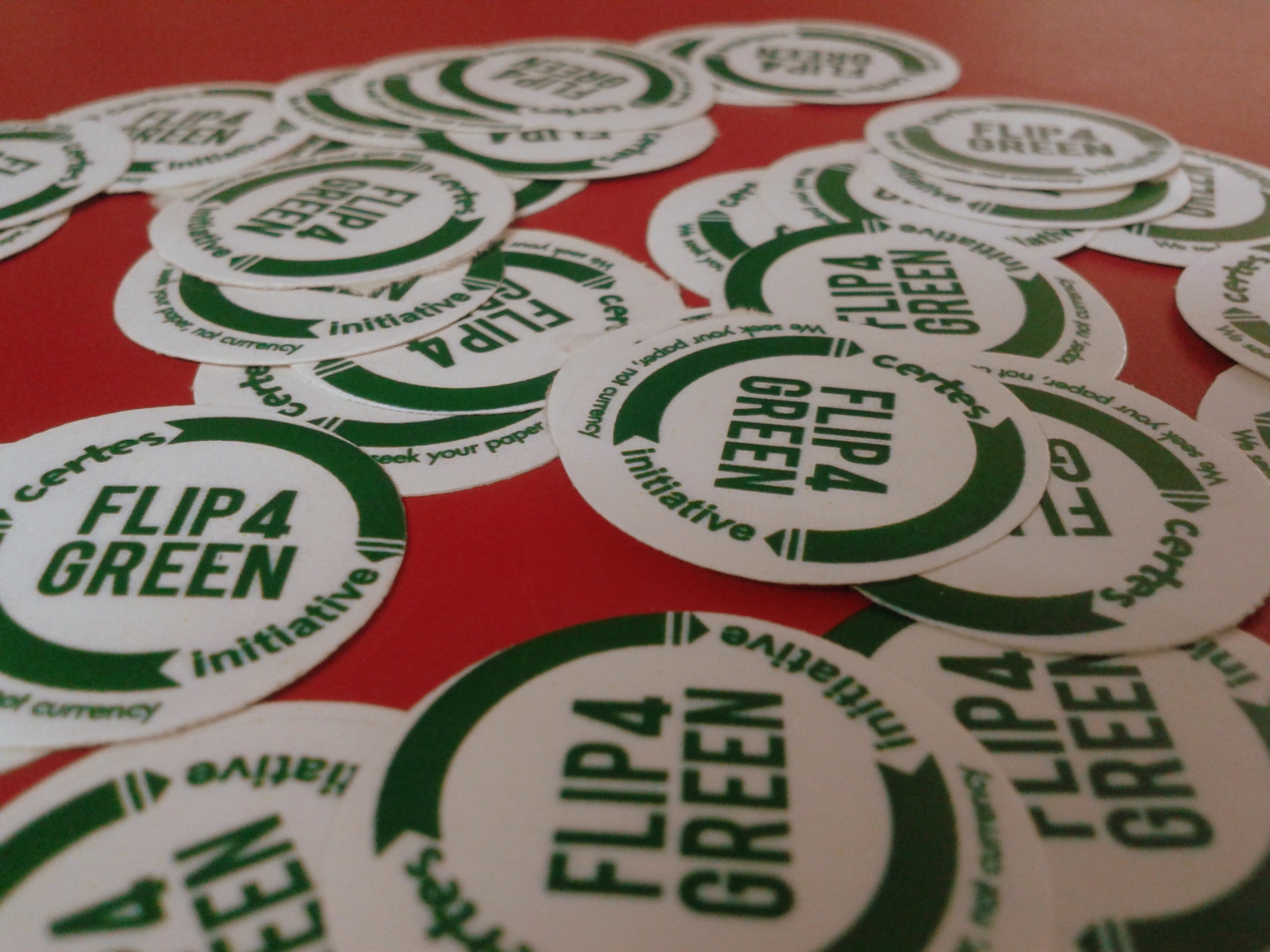 f4g stickers 2 How a CSR Initiative smartly executed by nailbites saved 17 Trees :  Flip4Green