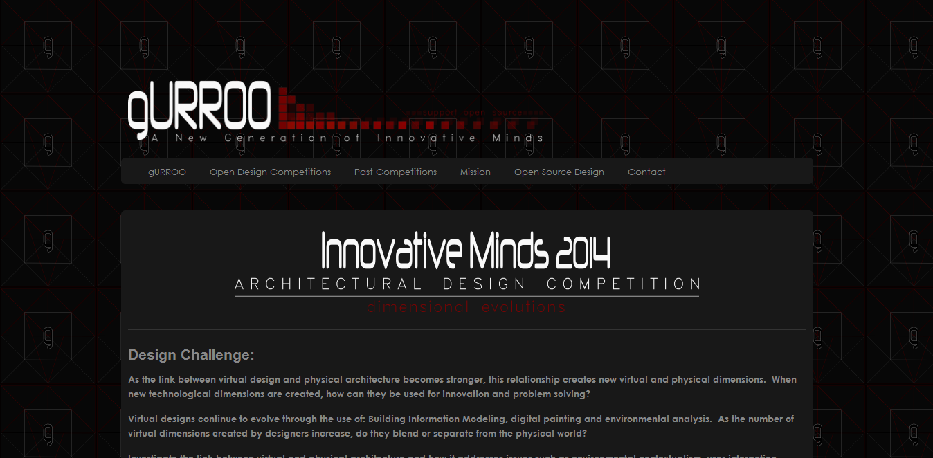 Gurroo - Innovative Minds 2014, Calling all Design professionals and Engineers!