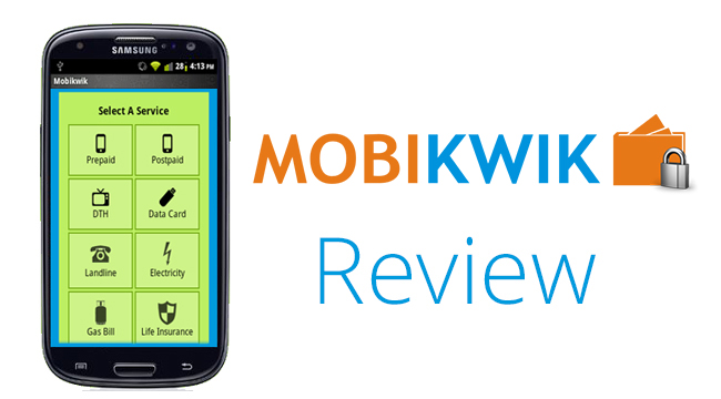 mobikwik review1 Mobikwik Android App – The Fastest Mobile Recharge and Bill Pay
