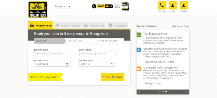 taxiforsure 720x326 TaxiForSure Raises $10 Million in Series B Round