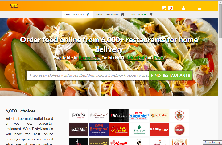2222 Order Food Online with TastyKhana.in!