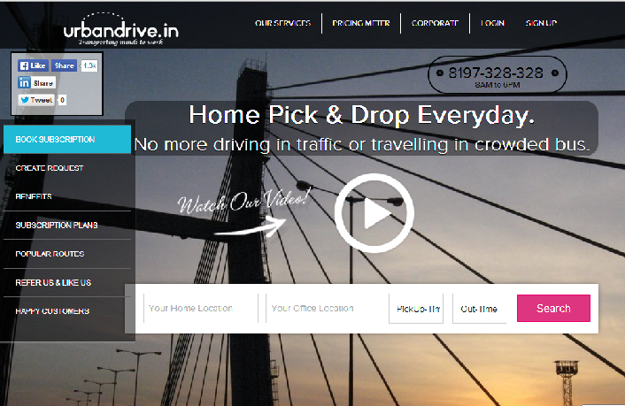 Urbandrive- enabling masses to commute in a stress free and easy way!