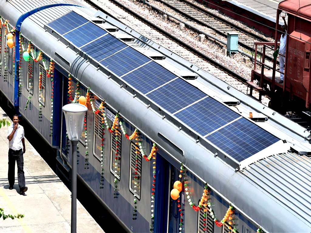 India Debuts 1st Solar-powered Trains, Another Step Towards Clean Energy