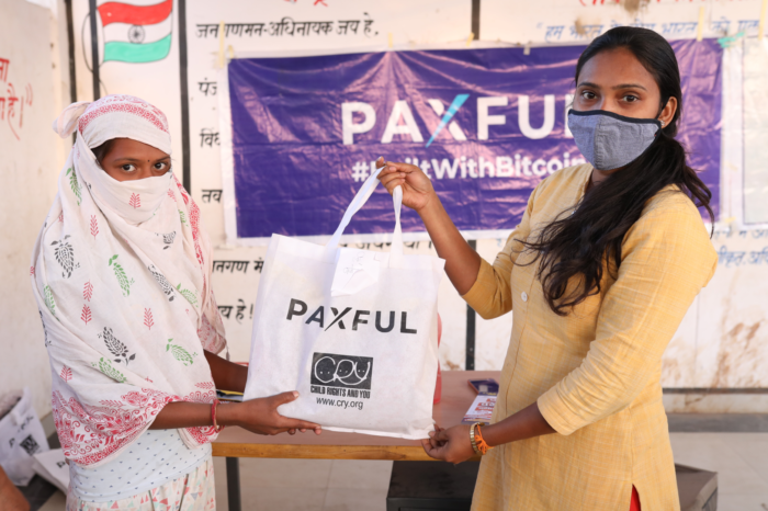 En Crypto: Paxful Launches Its Global Charity Initiative #BuiltwithBitcoin in India