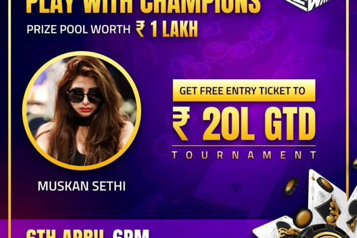 Event Alert: Indian Poker Stars Muskan Sethi and Gaurav Sood Will Participate in EWar Games´ Poker Tournament Livestream 'Play the Champions'