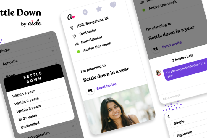 Tech update: Aisle aims to move beyond dating and enter the matrimony market with the 'Settle Down' feature