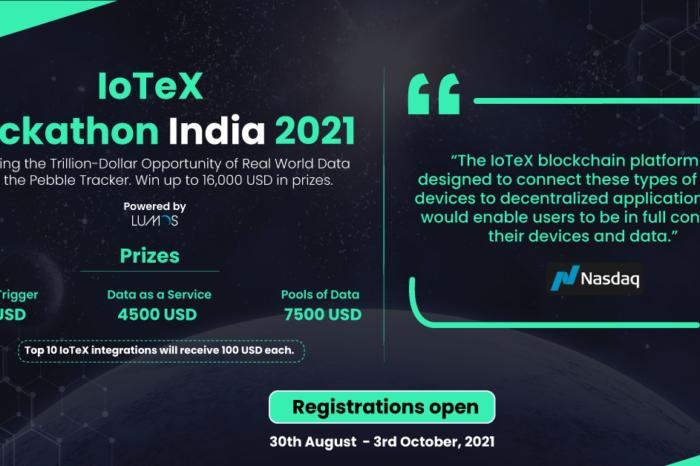 Event alert: Blockchain network IoTeX launching first India focussed hackathon, the IoTeX Hackathon India 2021